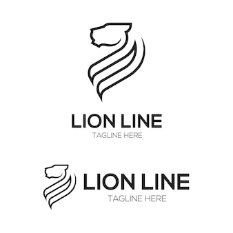 Lion vector line character