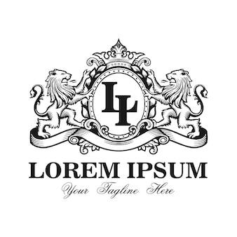 Lion vector logo design template
