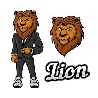 Lion wear tuxedo mascot
