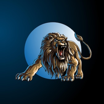Lion wild animal  illustration