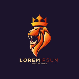 Lion with crown logo