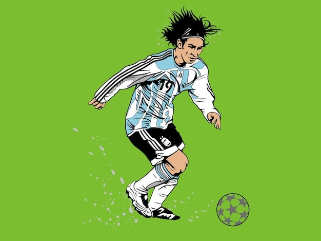Lionel messi football player vector