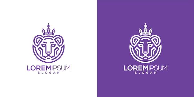 Lioness logo vector Premium Vector