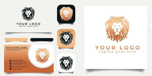 Lionhead_logo_template_and_business_card_