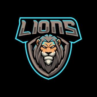 Иллюстрация дизайна логотипа талисмана львов для спортивной или киберспортивной команды