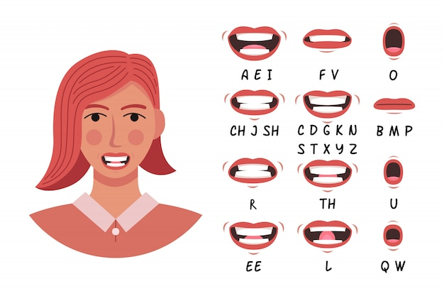 Lip pronunciation collection for animation and education
