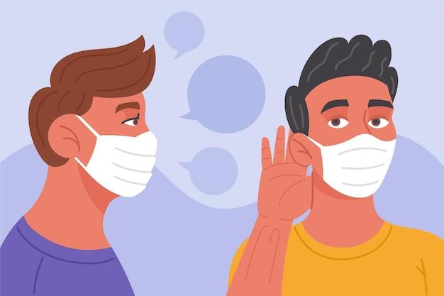 フェイスマスクによる読唇術の問題