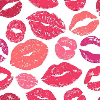 입술 원활한 패턴 완벽 한 그림