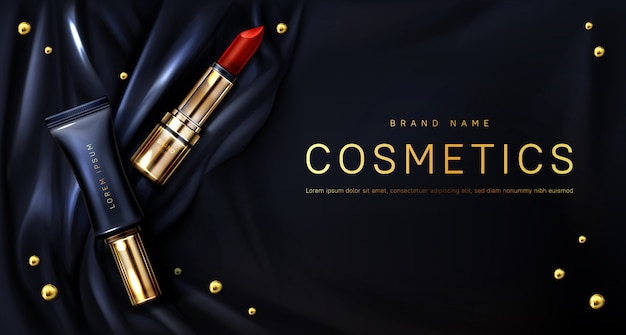 口紅化粧品は化粧品バナーを構成します
