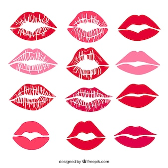 Lipstick kisses collection in red and rose color