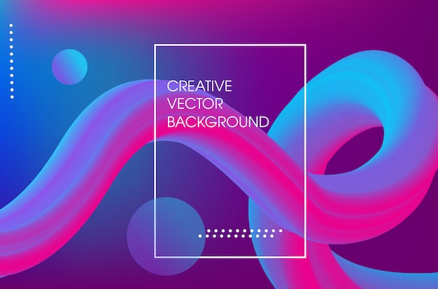 Liquid abstract 3d poster background design