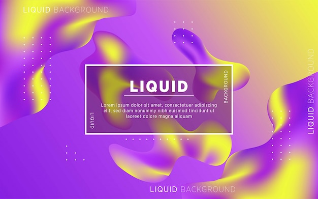 Liquid abstract background design. fluid gradient shapes composition. digital template