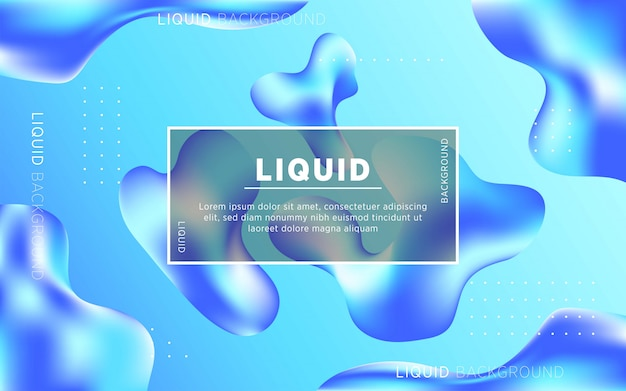 Liquid abstract background design. fluid gradient shapes composition. digital template.