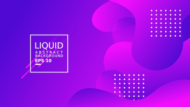Liquid abstract background template. purple color.