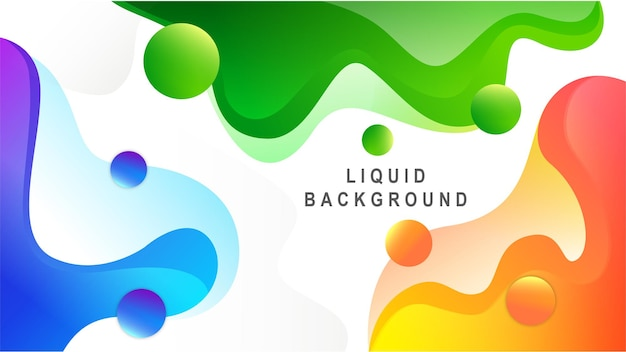 Liquid abstract banner design fluid vector shaped background