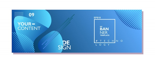 Liquid abstract banner design template