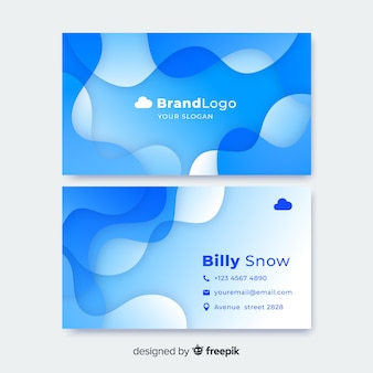 Liquid abstract business card template