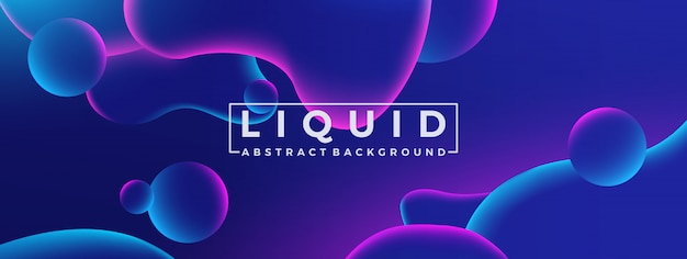 Liquid abstract fluid gradient shapes background design template