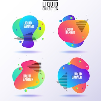 Liquid banner collection.