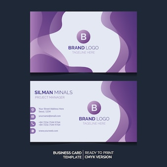 Liquid business card tempate