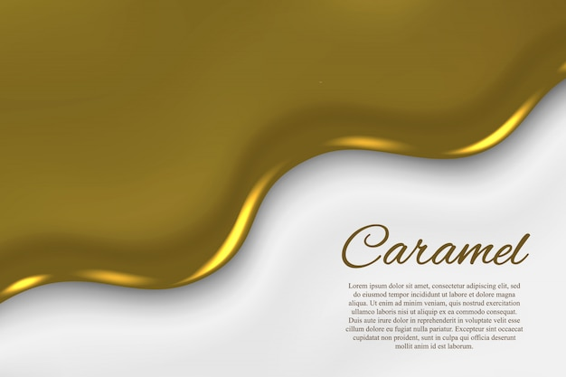 Liquid caramel background