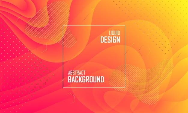 Жидкий цвет абстрактный фон дизайн. жидкий градиентный дизайн для баннера, публикации