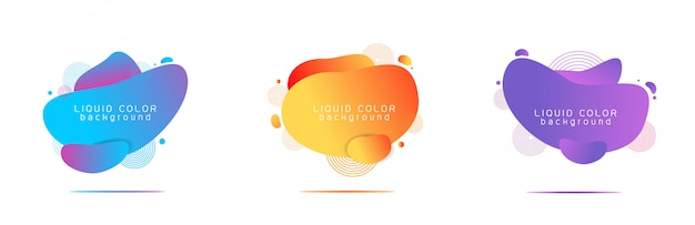 Liquid color abstract shapes