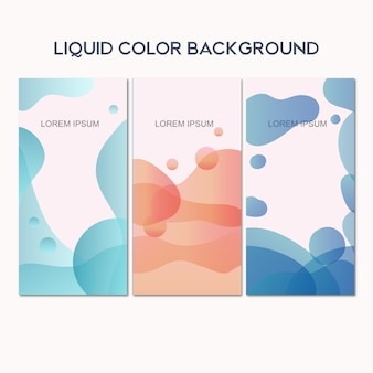 Liquid color background banner template
