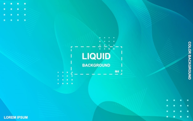Liquid color background design. fluid gradient shapes composition.