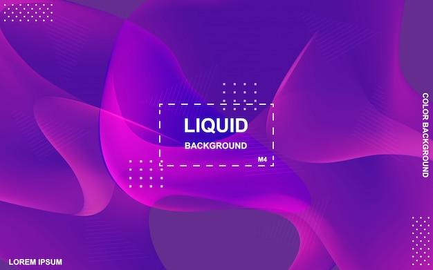 Liquid color background design. fluid gradient shapes composition