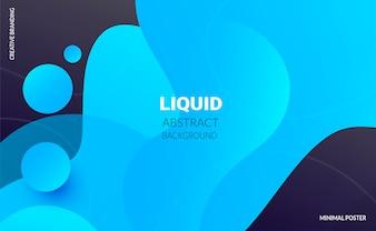 液体の色の背景未来的なデザインのポスター。