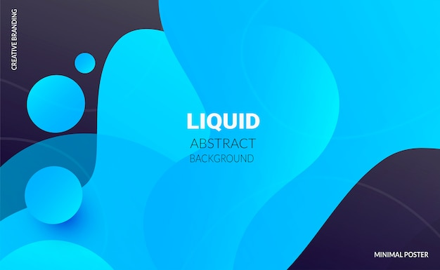 Liquid color background. futuristic design posters.