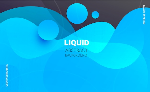 Liquid color background. gradient blue color