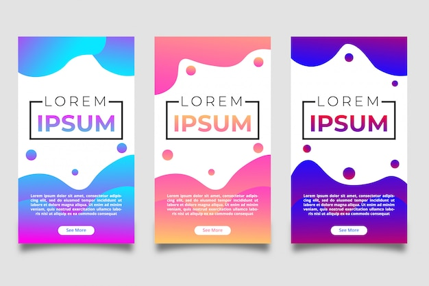 Liquid color banner template collection