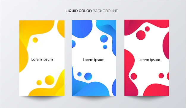Liquid color banner template set