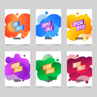 Liquid color business banner template