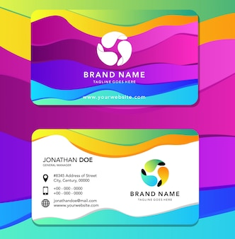 Liquid color identity card