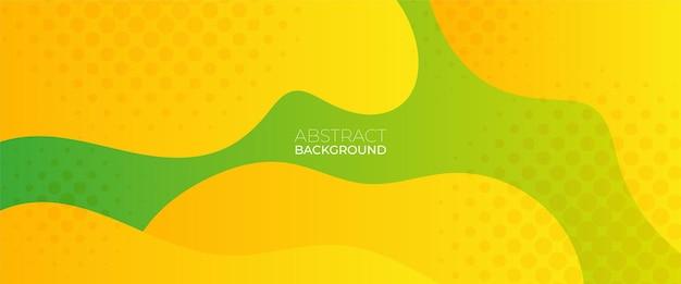 액체 색상 유행 배경 디자인 템플릿 하프톤 도트가 있는 유체 모양