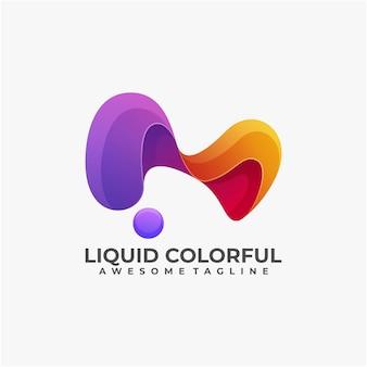 Liquid colorful logo design abstract modern