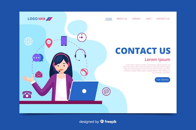 Liquid contact us landing page