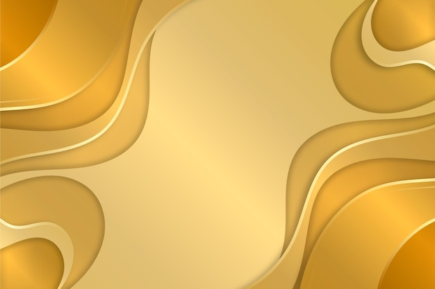 Liquid copy space gold luxury background