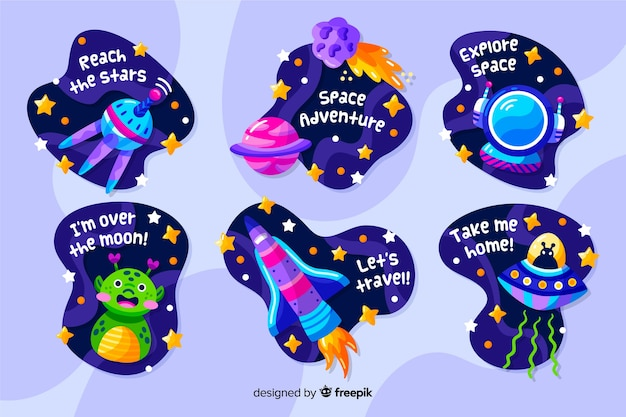 Liquid design space sticker collection