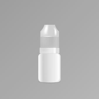Liquid dropper bottle template Premium Vector