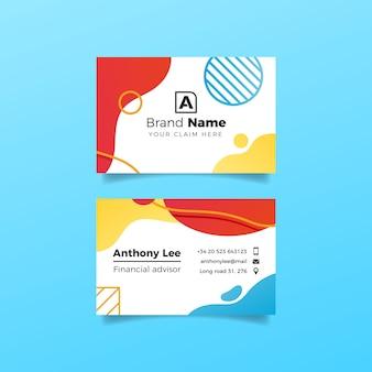 Жидкий эффект и дизайн кругов для визитки