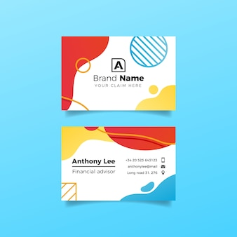 Liquid effect and circles design for business card