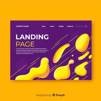Liquid effect landing page