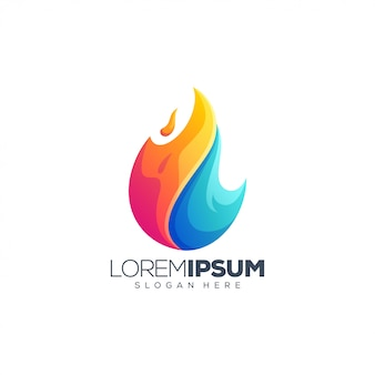 Liquid fire logo design