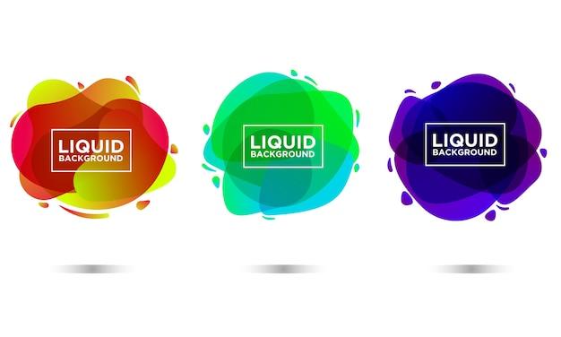 Liquid fluid background shape gradient