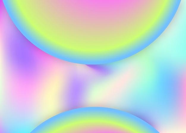 액체 액체. 크리에이티브 보고서, 초대장 레이아웃. 현대적인 트렌디한 블렌드가 있는 홀로그램 3d 배경입니다. 생생한 그라디언트 메쉬. 동적 요소와 모양이 있는 액체 유체 배경.
