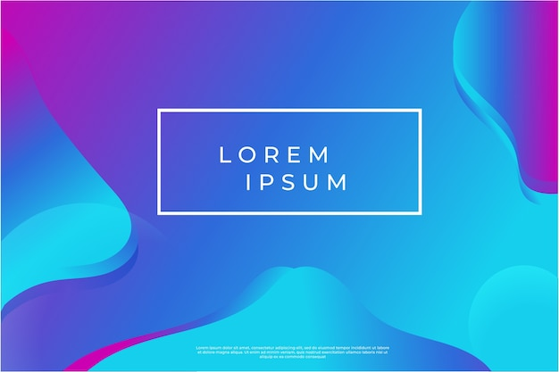 Liquid geometric background. trendy modern gradient shapes composition.